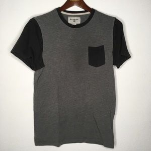 Billabong Grey & Navy Colorblock Pocket Tee Size S